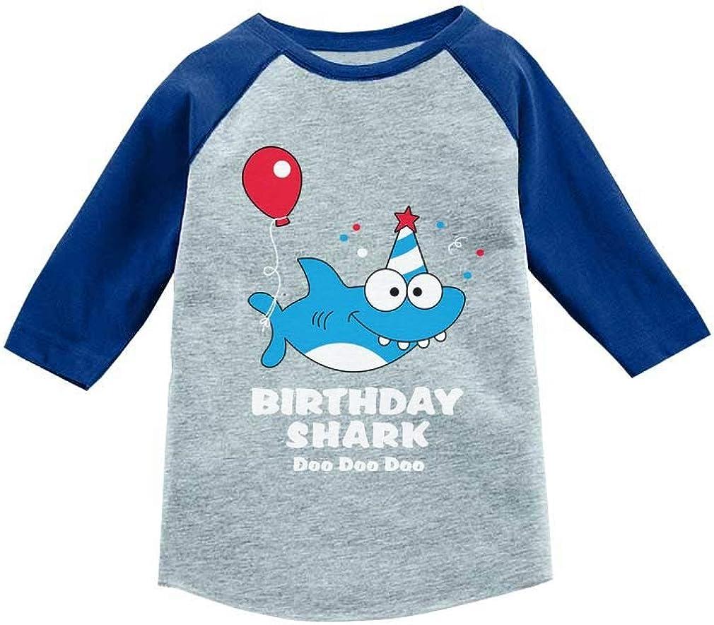 Birthday Shark Doo doo Song Funny Gift 3/4 Sleeve Baseball Jersey Toddler Shirt