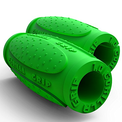 - Thick Bar Grips 1.0 Turns Barbell, Dumbbell, and Kettlebell Into Thick Gripz for Muscle Growth. Strengthen. for Weight Training/Bodybuilding/Strongman/WOD (Green, 1.0 (Beginner Thick Grip))
