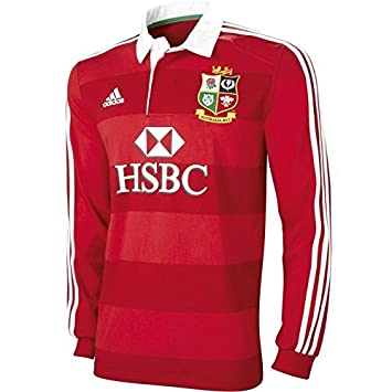 51c1c8f83f6 British and Irish Lions Long Sleeve Jersey - Adult - Red/White: Amazon.co.uk:  Sports & Outdoors