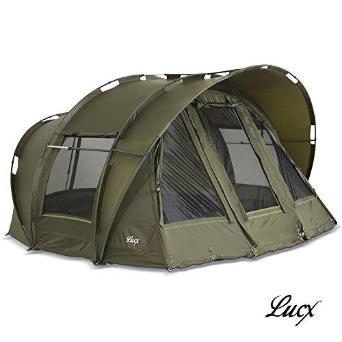 Lucx® Leopard Angelzelt 2 bis 3 Mann Bivvy Karpfenzelt - Carp Dome - Fishing Tent - Campingzelt 2 bis 3 Personen Anglerzelt