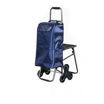 J&M Carrito de la carretilla - cesta de compras plegable 6 ruedas - Carro de la