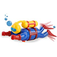 Underwater Adventurer Scuba Diver Man Swimming Bath Figure Water Bathtub Toy Durable Bath Toy Really Swims