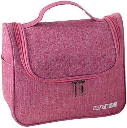 ウォッシュバッグ 女性・トイレタリートラベルオーガナイザーについてトイレタリーバッグをぶら下げ防水ポリエステル トイレタリーバッグ (Color : Red, Size : Free Size)
