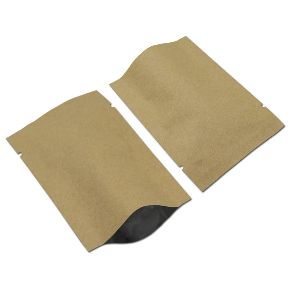 9x13 cm 100 PCS Craft Paper Packing Material Foil Mylar Bags Vacuum Heat Sealer Open Top Sample Plain Pockets Aluminum Foil Paperboard Camping Hiking Picnic Products Storage Pouch
