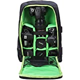 G-raphy Camera Backpack Waterproof by for DSLR/SLR Cameras (Canon, Nikon, Sony and etc), 17 Laptops, Tripods, Flashes, Lenses and Accessories (Green)
