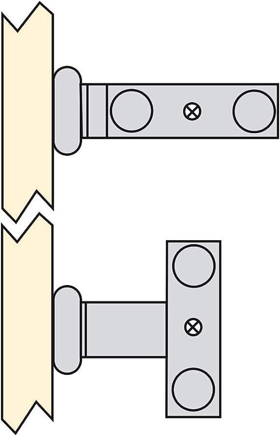 Emuca Ausziehbarer Handtuchhalter mit 2 Armig handtuchauszug küche oder Bad aus matt eloxiertem Aluminium Länge 310mm