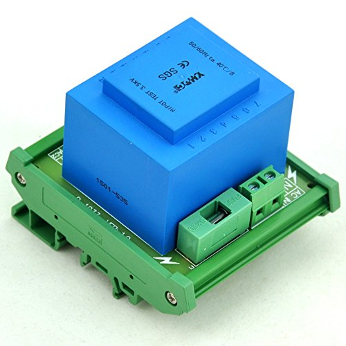 Electronics-Salon P 230VAC, S 24VAC, 20VA DIN Rail Mount Power Transformer Module, D-1033T/R,AC24V