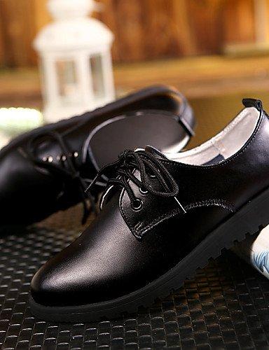 IOLKO njx njx njx 2016 Damen Schuhe Leder flach Ferse rund Oxford Office & Karriere Kleid Casual Schwarz Weiß B01KHBNHWE Schnürhalbschuhe Niedriger Preis d239c1