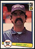Baseball MLB 1982 Donruss #619 Dennis Lamp White Sox