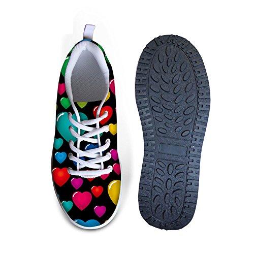Per Te Disegni Colorati Graffiti Womens Comfort Zeppe Pedane Scarpe Da Passeggio Multi B4