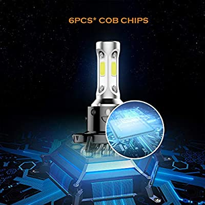 Auxbeam Led Headlight Bulbs F-S2 Series LED Headlights with 2 Pcs of H13 9008 H13A P264T PJ264T LED Headlight Bulbs 72W 8000lm COB Led Chips Hi-Lo Beam: Automotive