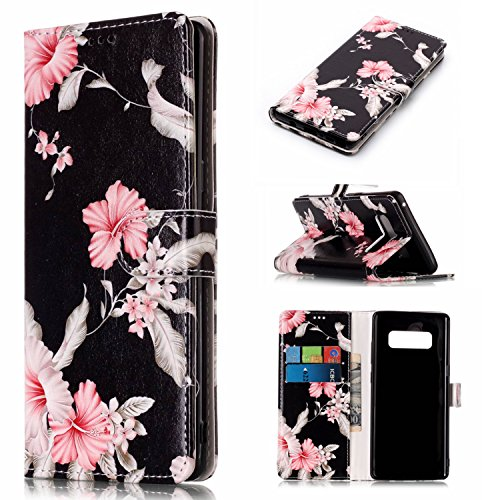 Note 8 Case,Galaxy Note 8 Case,DAMONDY Luxury Marble Stand Wallet Purse Card ID Holders Design Flip Cover TPU Soft Bumper PU Leather Magnetic Case for Samsung Galaxy Note 8 2017 -Azalea