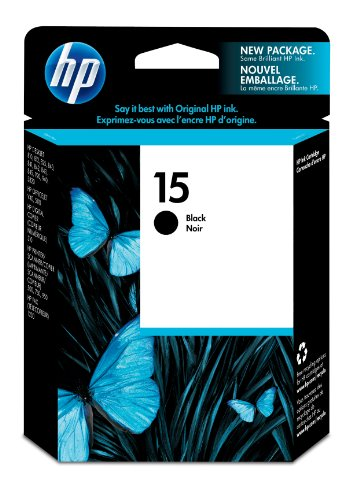 HP 4461199 15 Black Original Ink Cartridge (C6615DN)