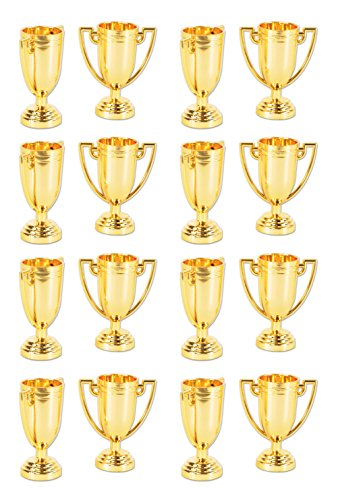 - Beistle 59913 16 Piece Trophy Cups, 2.75