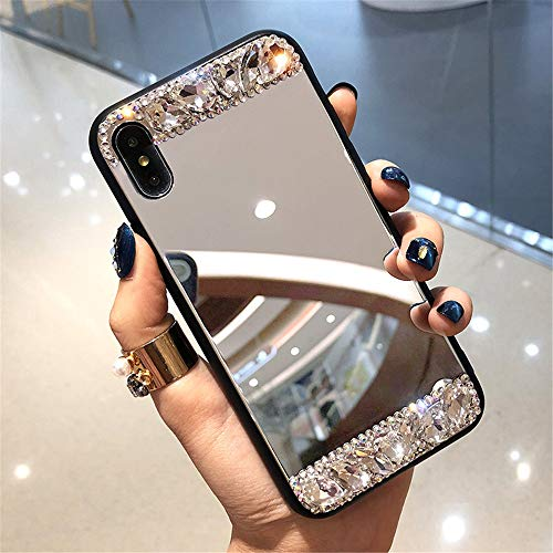 for iPhone 7 Plus Case, for iPhone 8 Plus Case, for iPhone X Case, for iPhone Xs Case, for iPhone Xs Max Case,Glass Mirror Phone Case Personalized Luxury Makeup Mirror,Mirror Phone Case