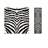 D&H 1 Piece Girls White Black Zebra Stripes Runner Rug, Wild Animal Safari Entraceway Rug, Hallway Flooring African Themed Pattern Zoo, Long Narrow Skinny, Jungle Style, 2'3Ft X 6Ft