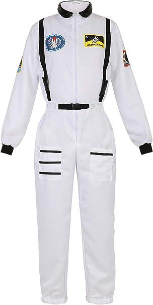 Disfraz Astronauta Mujer Adulto Traje Astronauta Cosplay NASA ...