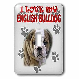RinaPiro - Dogs Quotes - I Love my English Bulldog. Canvas. Cute dog ...