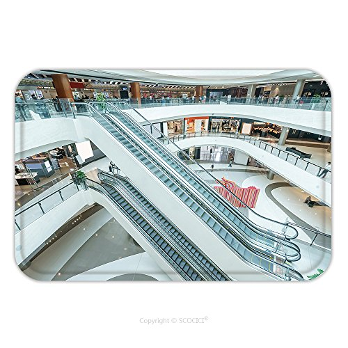 Flannel Microfiber Non-slip Rubber Backing Soft Absorbent Doormat Mat Rug Carpet Interior Of Modern Shopping Mall 343794926 for - Capecod Mall