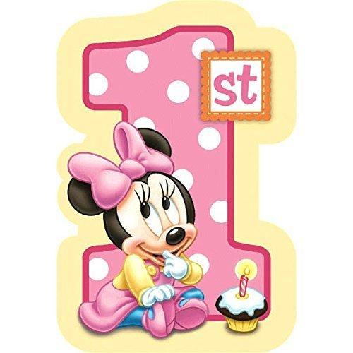 1st birthday invitation amazon baby minnie mouse 1st birthday invitations 8 pkg disney invites party filmwisefo