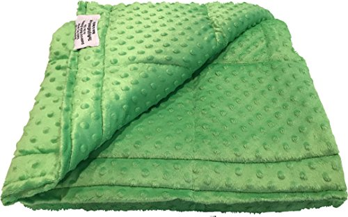 Ultra-Soft Lime Minky Weighted Sensory Blanket -8lb 36x48 by The Weighted Blanket Co. (Image #1)