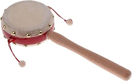 """Baby Wooden Rattle Bell Toy Handbell Musical Education Percussion Instrument/""""HA"""
