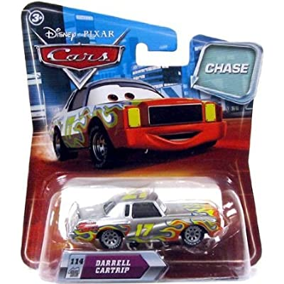 Disney / Pixar CARS Movie 1:55 Die Cast Car with Lenticular Eyes Series 2 Darrell Cartrip Metallic Finish Chase Piece!: Toys & Games