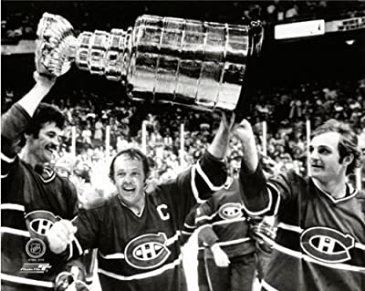 Yvan Cournoyer, Yvon Lambert, Guy Lafleur Montreal Canadiens Stanley Cup Photo