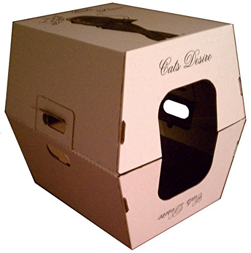 Cats Desire Disposable Litter Boxes Covered Box with Litter