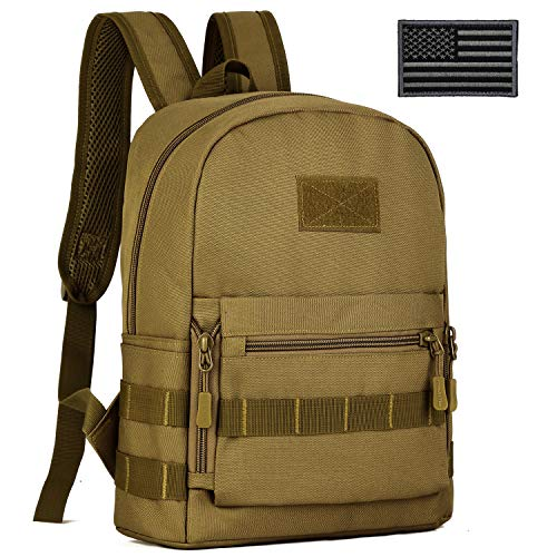 ArcEnCiel Kids Tactical Backpack with Patch (Coyote Brown)