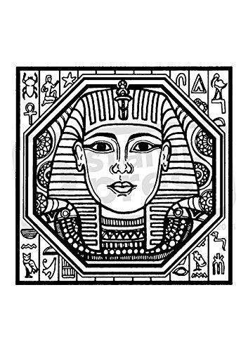 Azeeda A7 'Egyptian Motif' Unmounted Rubber Stamp (SP00003958) (Egyptian Motif)