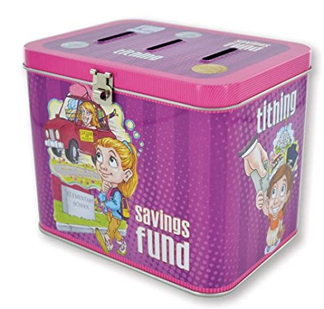 Amazon com: LDS Girls Tin Tithing / Savings Bank - 3 Slots: Fun
