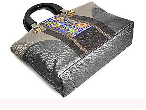 手作りの刺繍国スタイルのハンドバッグPUレザーショルダーバッグ女性のためのクロスボディバッグ YZUEYT