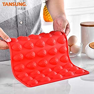 Silicone Letter Cake Mold BPA Free, Non-Stick Chocolate Mold Soft and Easy to Release, Decorating Silicone Red Mold Cake Baking Utensils Good Toughness DIY Ice Tray Kitchen Cake Pans