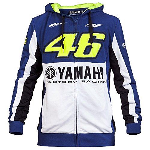 Yamaha VR46 M1 Team F1 Racing Fleece Hooded Sweatshirt For Mens