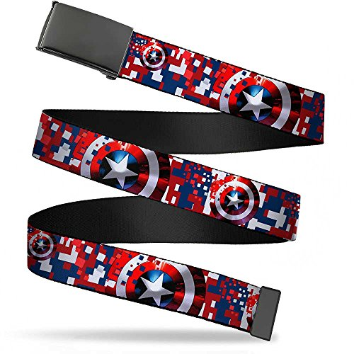 captain america belt with buckle - 1