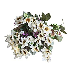 eroute66 25 Heads/1 Bouquet Artificial Flowers Plant China Aster Simulation Wedding Decor - Beige 33