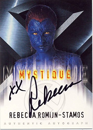X-Men: The Movie Trading Card Autographed by Rebecca Romijn-Stamos as Mystique