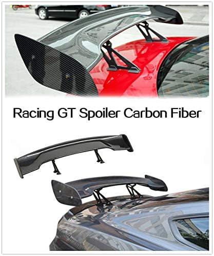 Becquet Arri/èRe GT Racing en Fibre De Carbone Spoilers Arri/èRe pour V/éHicules /à Trois Compartiments,Carbon WEUN Aile De Spoiler De Voiture Universelle Aileron Arri/èRe avec Vis