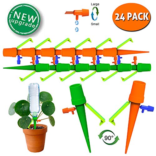 TAOPE Self Watering Spikes, Plant Watering Spikes, Automatic Plant Waterer Irrigation Devices for Potted Plant Flower or Vegetables (24 PCS)