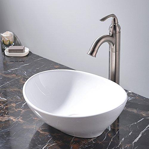 Kes Bathroom Sink Vessel Sink Porcelain 20 Inch Above