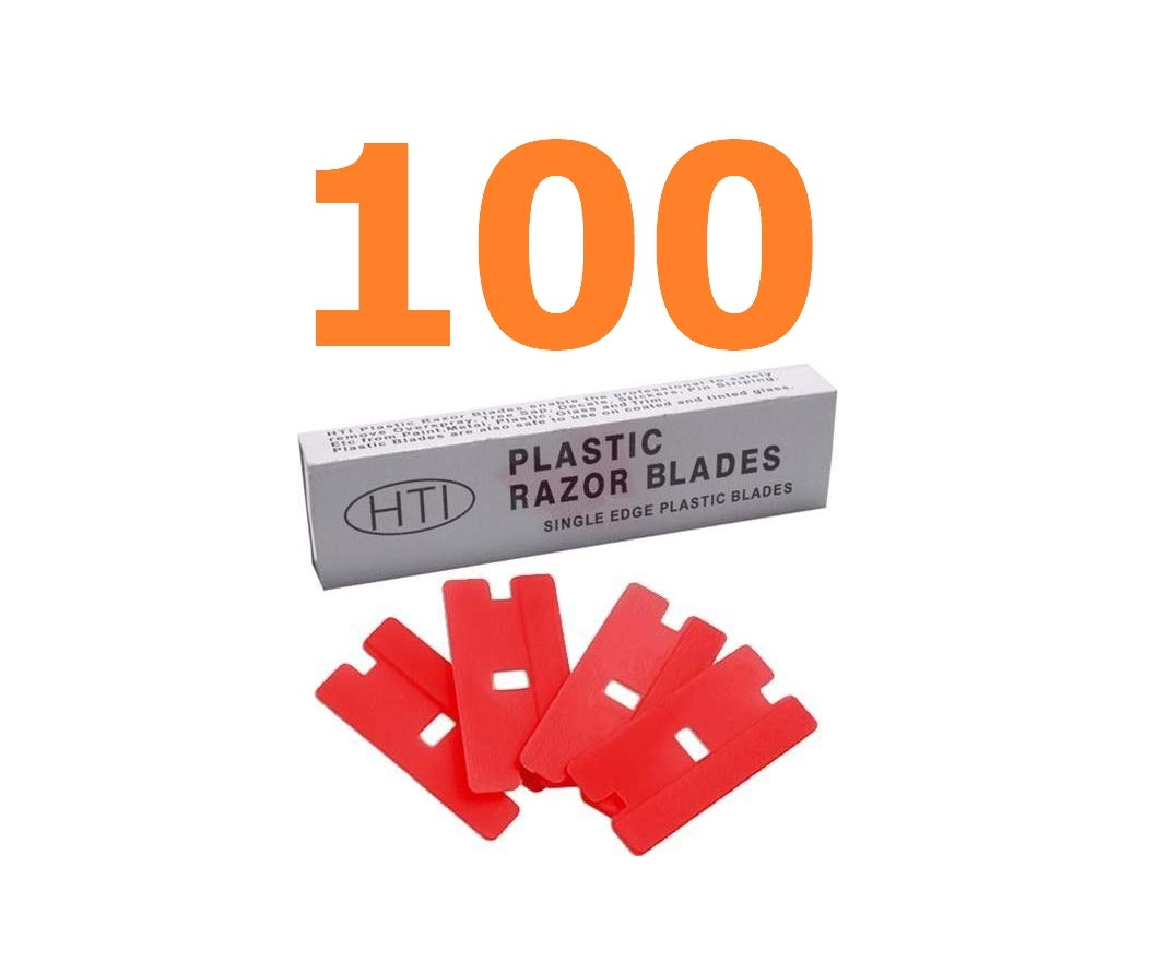 Reliable Hundred Plastic Razor Blades Tint Pinstripe Decals