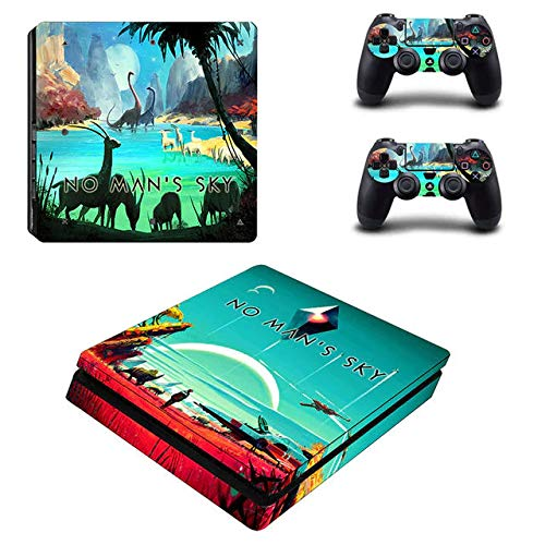 Playstation 4 Slim Skin Set - Surrvial game - HD Printing Vinyl Skin Cover Slimtective for PS4 Slim Console and 2 PS4 Controller by okanhyeu .