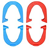 Six Shooter Professional Pitching Horseshoes- Made in The USA! (Red & Blue- Two Pair Set (4 Shoes))
