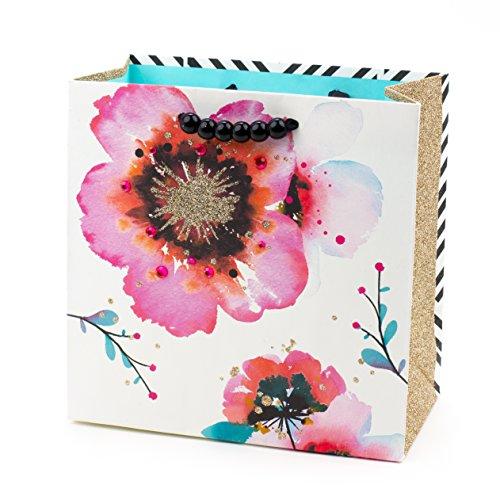 Hallmark Signature Medium Gift Bag (Poppies and Stripes) ()