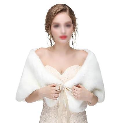 a15bed477ccd Zgsjbmh Scialle Donna Sciarpe da Sposa da Donna con Scialle Invernale da  Donna Stole Calde Poncho