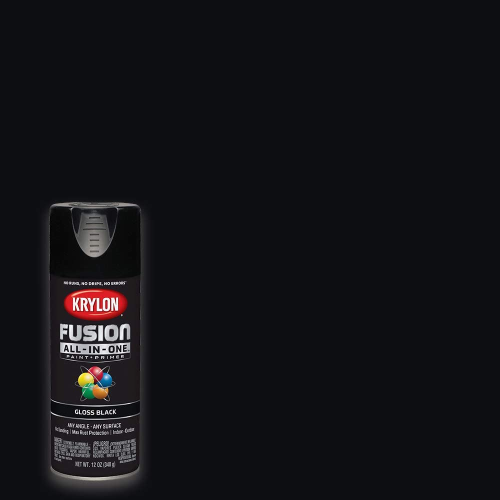 Krylon K02702007 Fusion All-In-One Spray Paint, Black