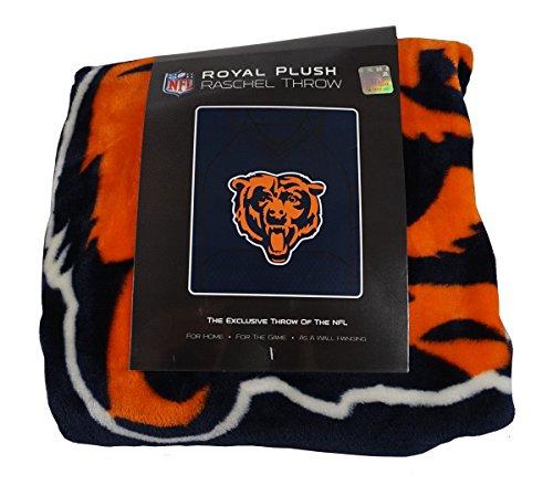 The Northwest Company Chicago Bears 50x60 NFL Jersey Design Royal Plush Raschel Throw ()
