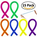 15 Pack - Elongdi Stretchy String Fidget Toy, Rubber Sensory Fidget Stretch Toys Perfect for Spend Time Help Focus Relieves Anxiety Fidget ADHD Autism Lessen Boredom