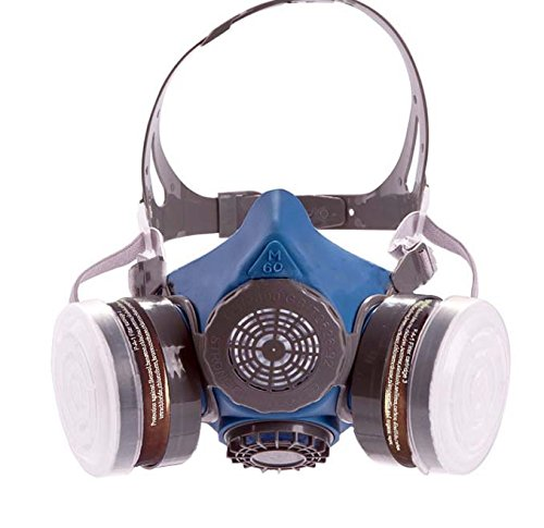 T-60 Series Reusable Respirator by Parcil Distribution. Double Air Filter Gas Mask - Industrial Grade Quality - Pure Safe Breathing for Toxic Spray, allergens, Chemical pest Control, Painting, fire by Parcil Distribution